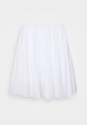 PLEATED MINI - Miniskjørt - natural white