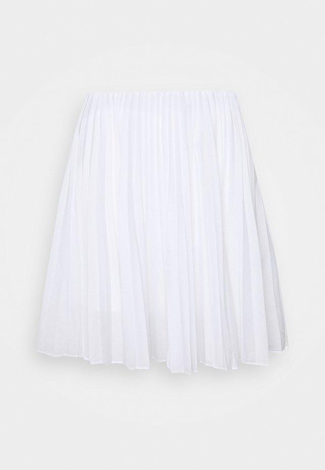 PLEATED MINI - Minigonna - natural white