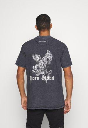 DURK - T-shirt con stampa - black
