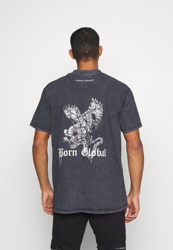 DURK UNISEX - T-shirt med print - black
