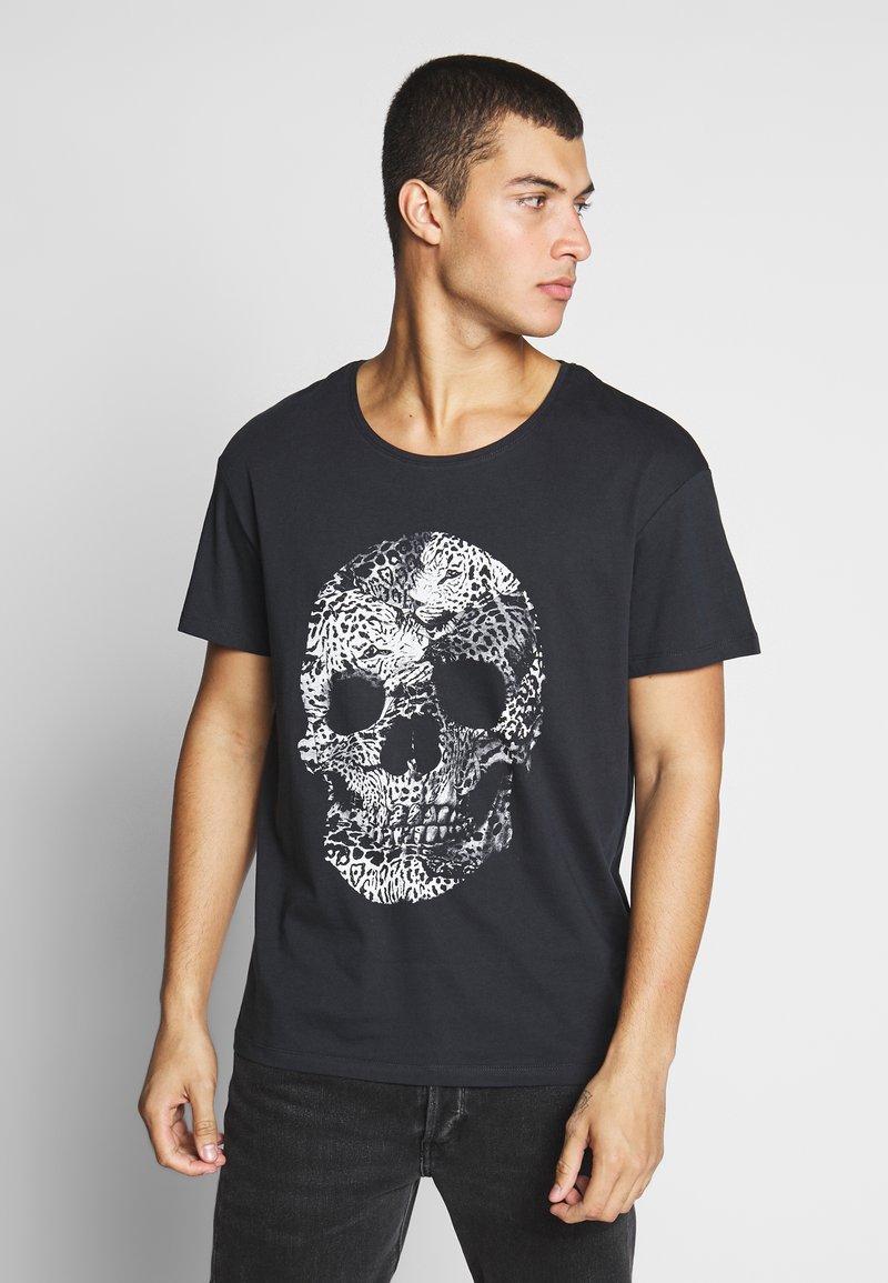 Jack & Jones - JORLEOSKULL TEE - T-shirt print - black