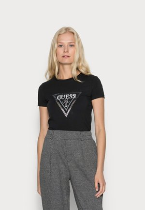 AMALUR TEE - T-shirt print - jet black