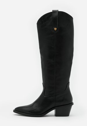 HOLLY KNEE HIGH  - Biker-/cowboysaappaat - black