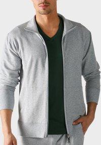 mey - MIT REISSVERSCHLUSS - Zip-up sweatshirt - grey - 0