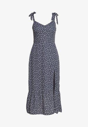 TIE SHOULDER DRESS - Robe d'été - blue/white