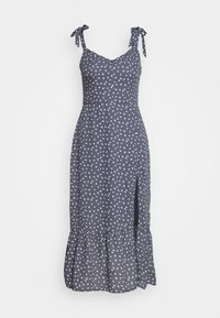 Abercrombie & Fitch - TIE SHOULDER DRESS - Day dress - blue/white - 4