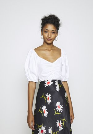 NEMI - T-shirt med print - white