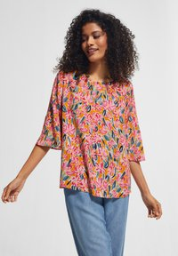 comma casual identity - Blouse - apricot flower - 3