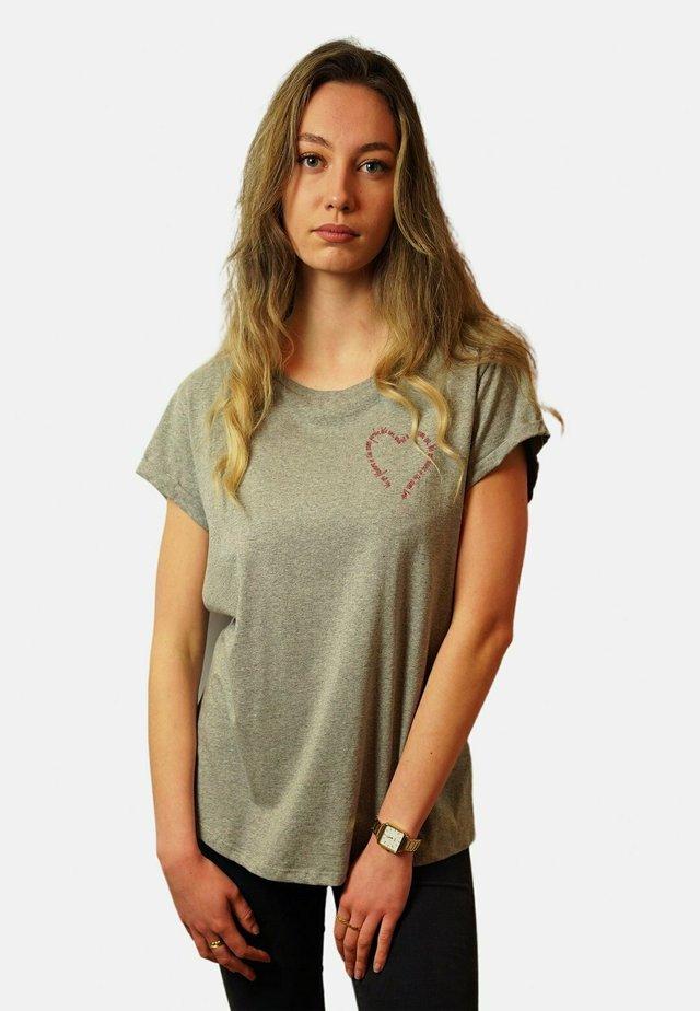 T-shirt basique - mottled grey