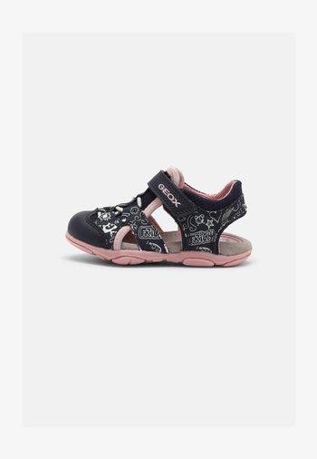 AGASIM GIRL - Walking sandals - navy/pink