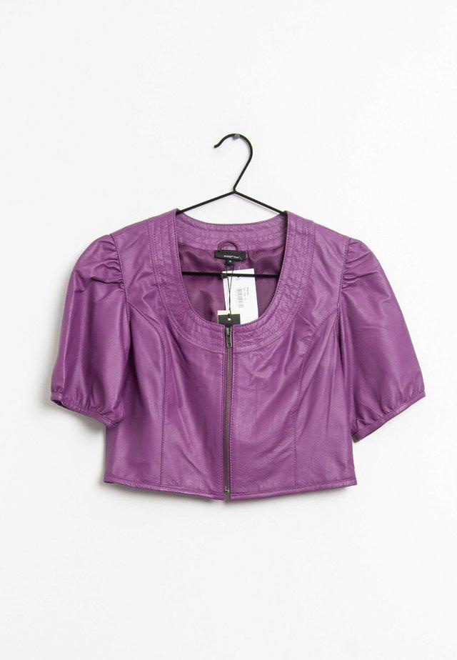 Leren jas - purple