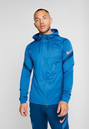 DRY - Training jacket - industrial blue/laser crimson