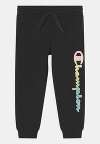 Champion - COLOR LOGO UNISEX - Jogginghose - black - 0