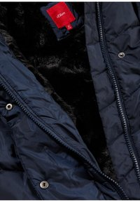 s.Oliver - MIT FAKE FUR-FUTTER - Winter jacket - dark blue - 2