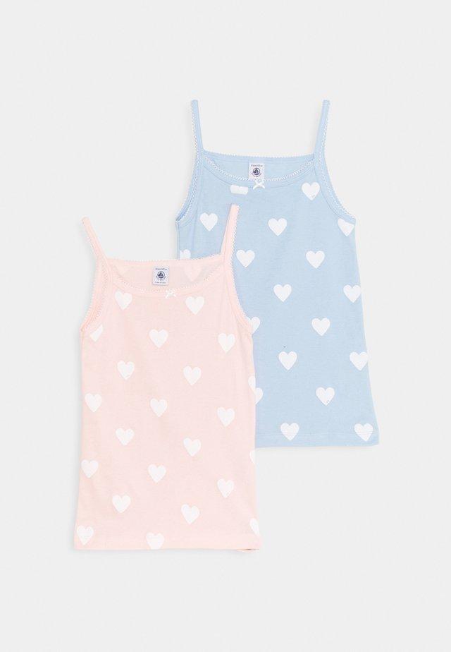 HEART PRINT CHEMISES 2 PACK - Unterhemd/-shirt - light pink/blue