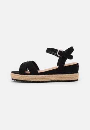 WIDE FIT STRASBOURG - Platform sandals - black