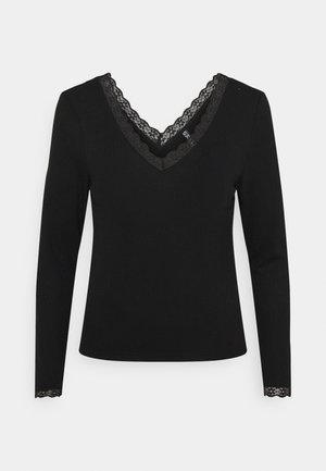 PCCILLA  - T-shirt à manches longues - black