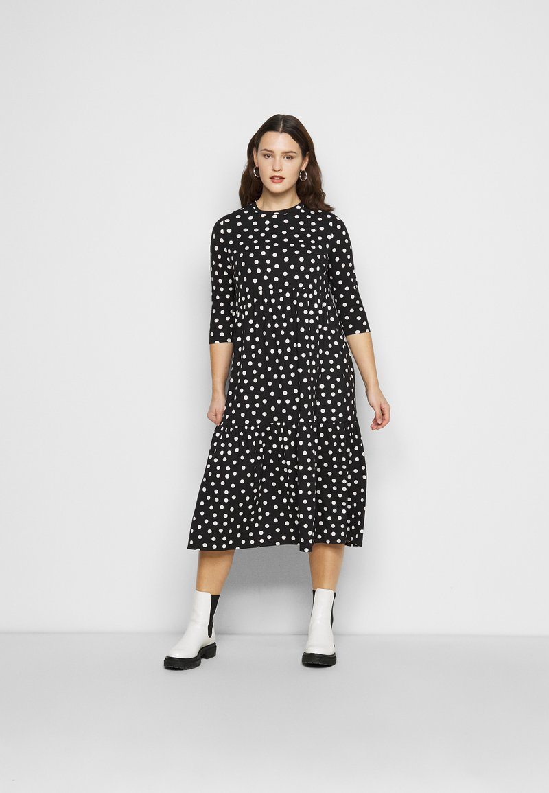 Simply Be - TIERED DRESS - Jersey dress - black