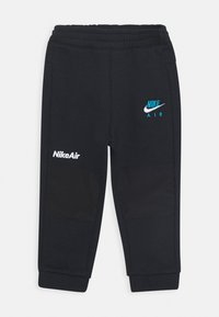 Nike Sportswear - AIR CREW SET - Tracksuit - black/laser blue - 2