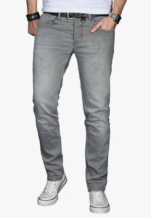 Slim fit jeans - hellgrau