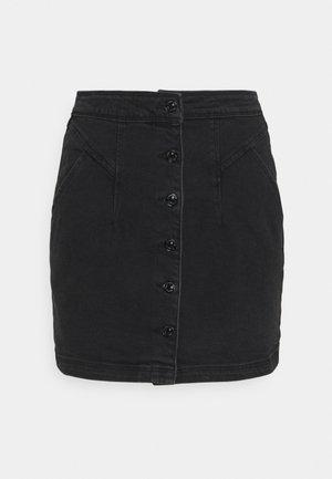 FALDA BOTONES  - Miniskjørt - black