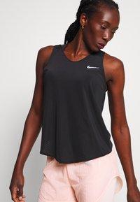 Nike Performance - TANK BREATHE - Sports shirt - black/reflective silver - 3