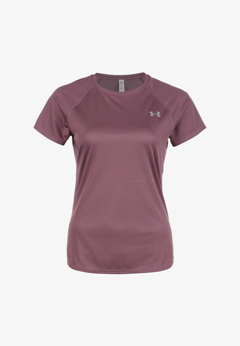 Under Armour - SPEED STRIDE  - Basic T-shirt - ash plum  reflective