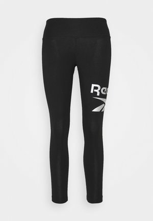 LEGGING - Leggings - black/silver metallic