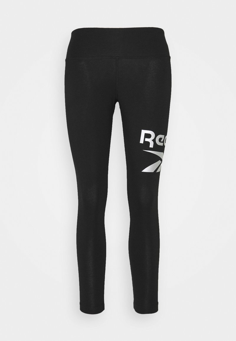 Reebok - LEGGING - Collant - black/silver metallic