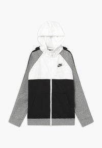 Nike Sportswear - HYBRID - Mikina na zip - white/black/grey - 0