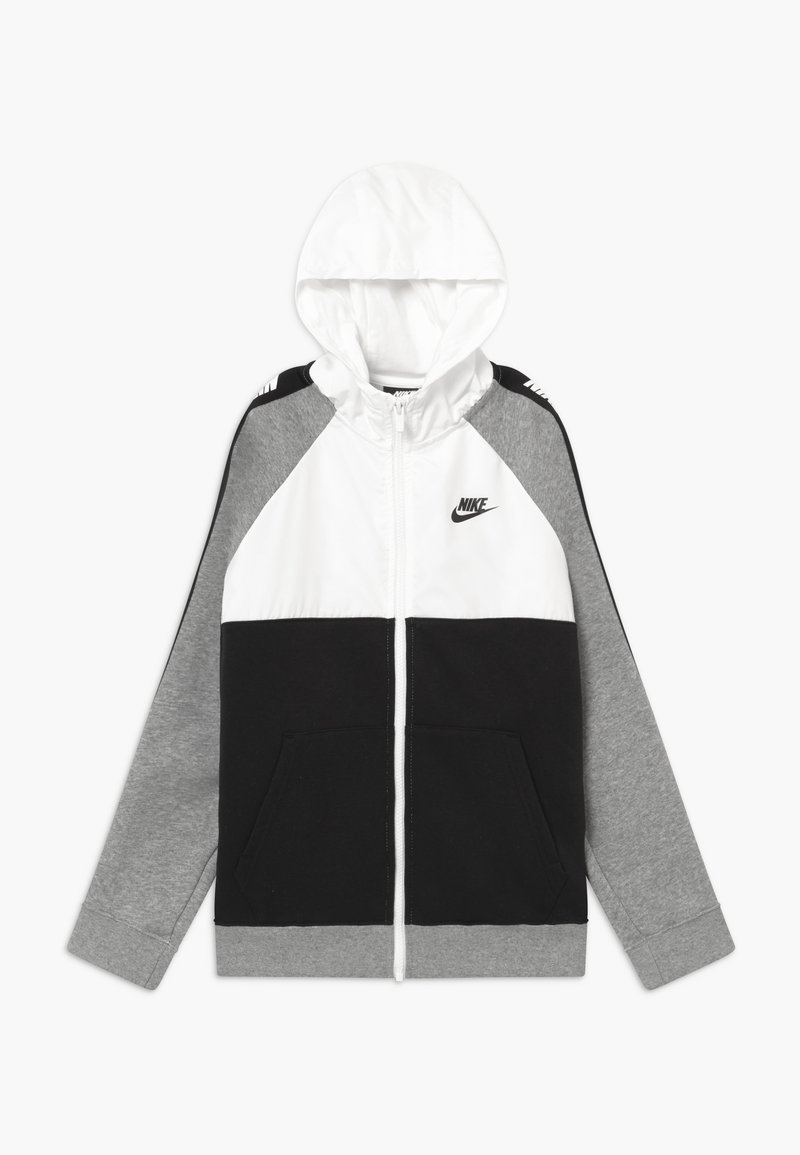 Nike Sportswear - HYBRID - Mikina na zip - white/black/grey