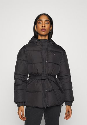 BELTED PUFFER - Winter jacket - black