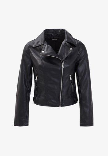 Imitatieleren jas - noir