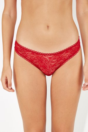 Thong - deep red