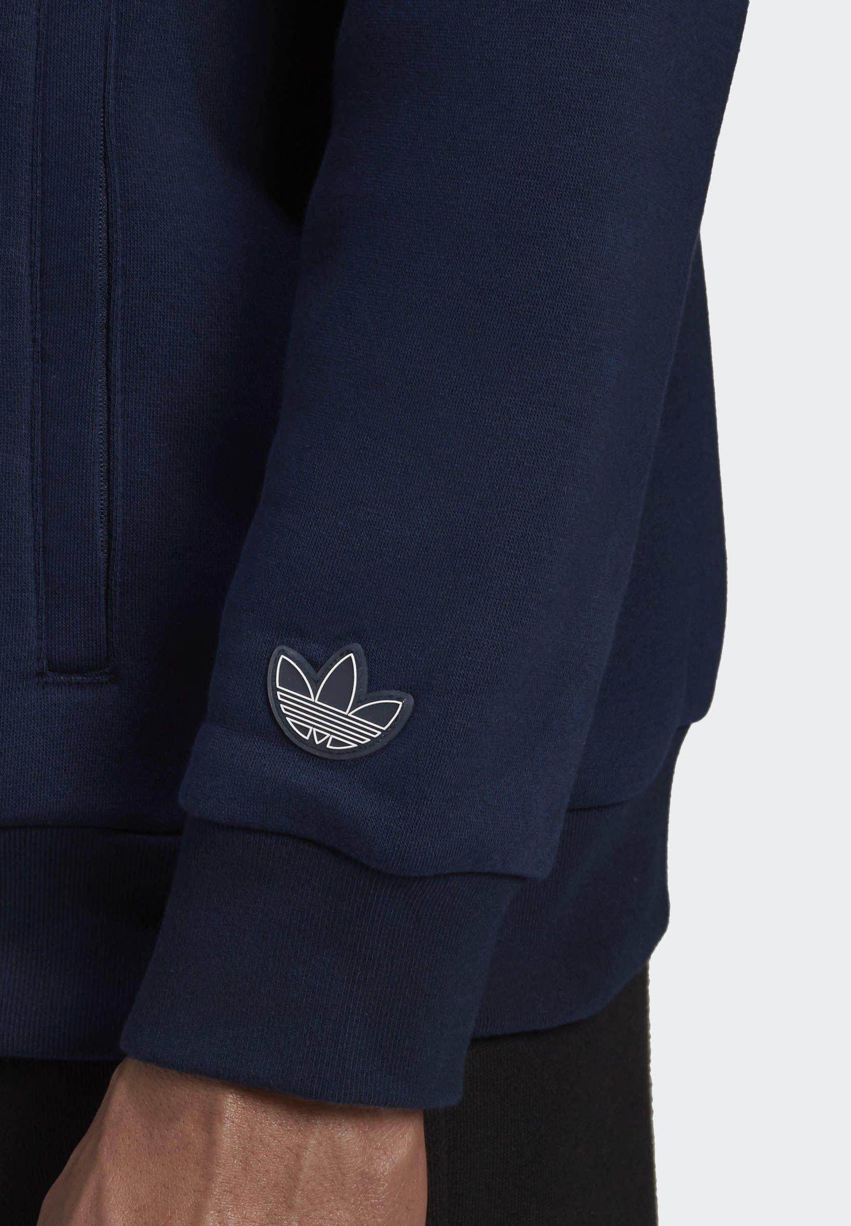 adidas Originals QUARTER ZIP TRACK Sweatshirt blueblau