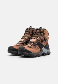 Salomon - QUEST 4 GTX - Hiking shoes - sirocco/mocha mousse/almond cream - 1