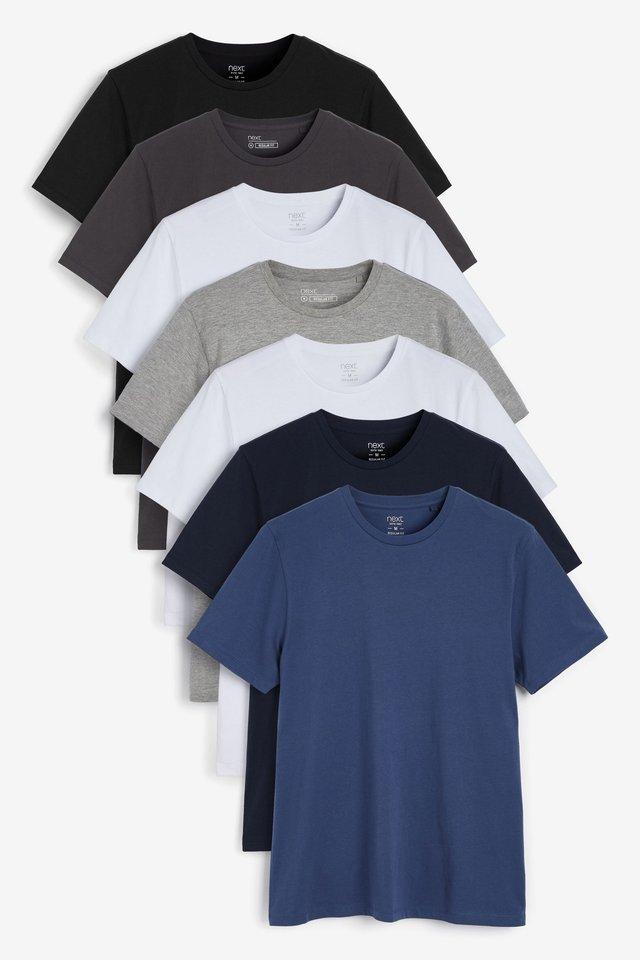 7 PACK - Jednoduché triko - multicoloured