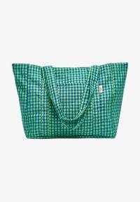 PULL&BEAR - KARIERTE - Tote bag - green - 0