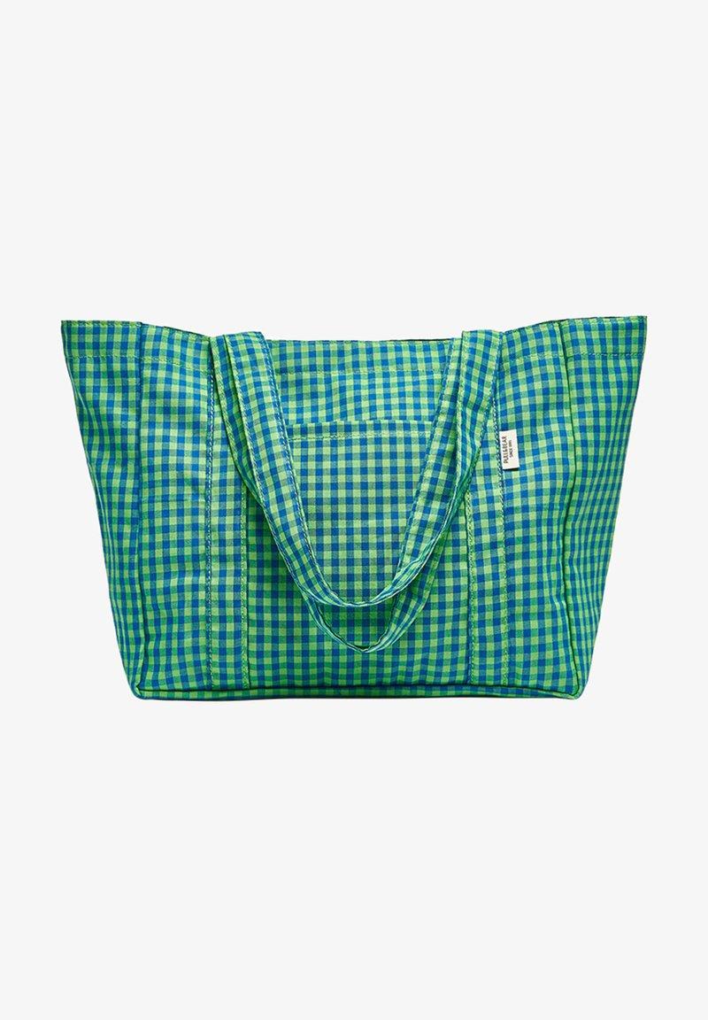 PULL&BEAR - KARIERTE - Tote bag - green