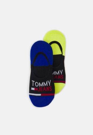 NO SHOW MID CUT SOCKS 2 PACK UNISEX - Sportovní ponožky - black/yellow