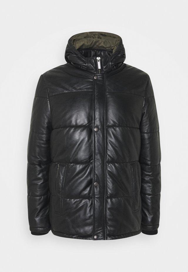 TAG - Leather jacket - noir
