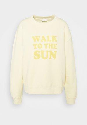 SUN - Sweatshirt - jaune pâle