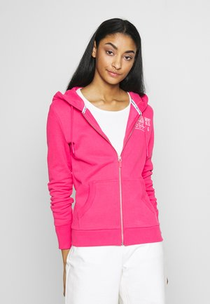 TRACK FIELD ZIPHOOD - Zip-up hoodie - fuschia