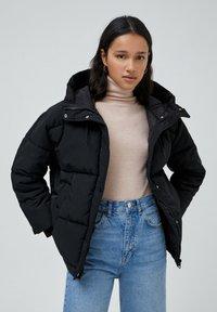 PULL&BEAR - Down jacket - black - 0