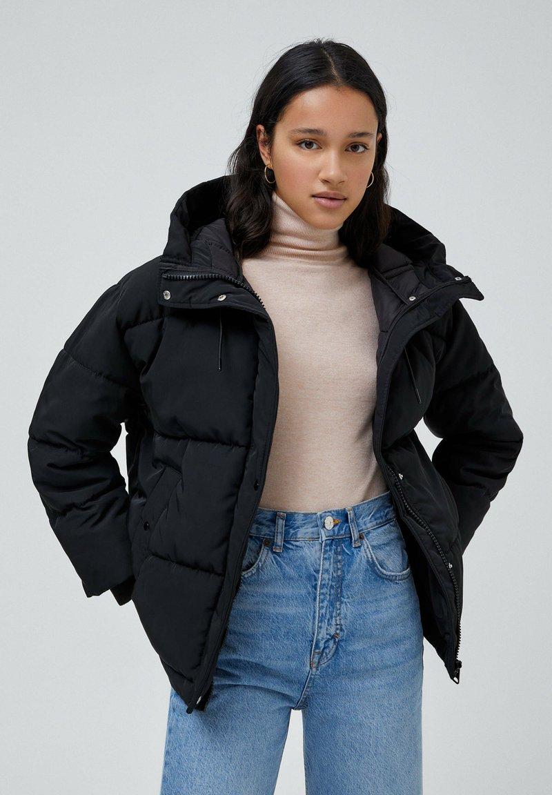 PULL&BEAR - Down jacket - black