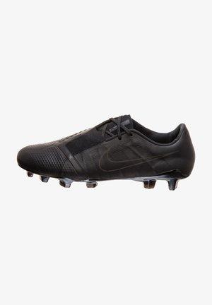 Screw-in stud football boots - black