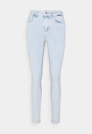 ONLBLUSH LIFE MID RAW - Jeans Skinny Fit - light blue denim