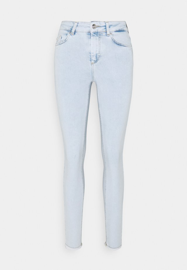ONLBLUSH LIFE MID RAW - Skinny džíny - light blue denim