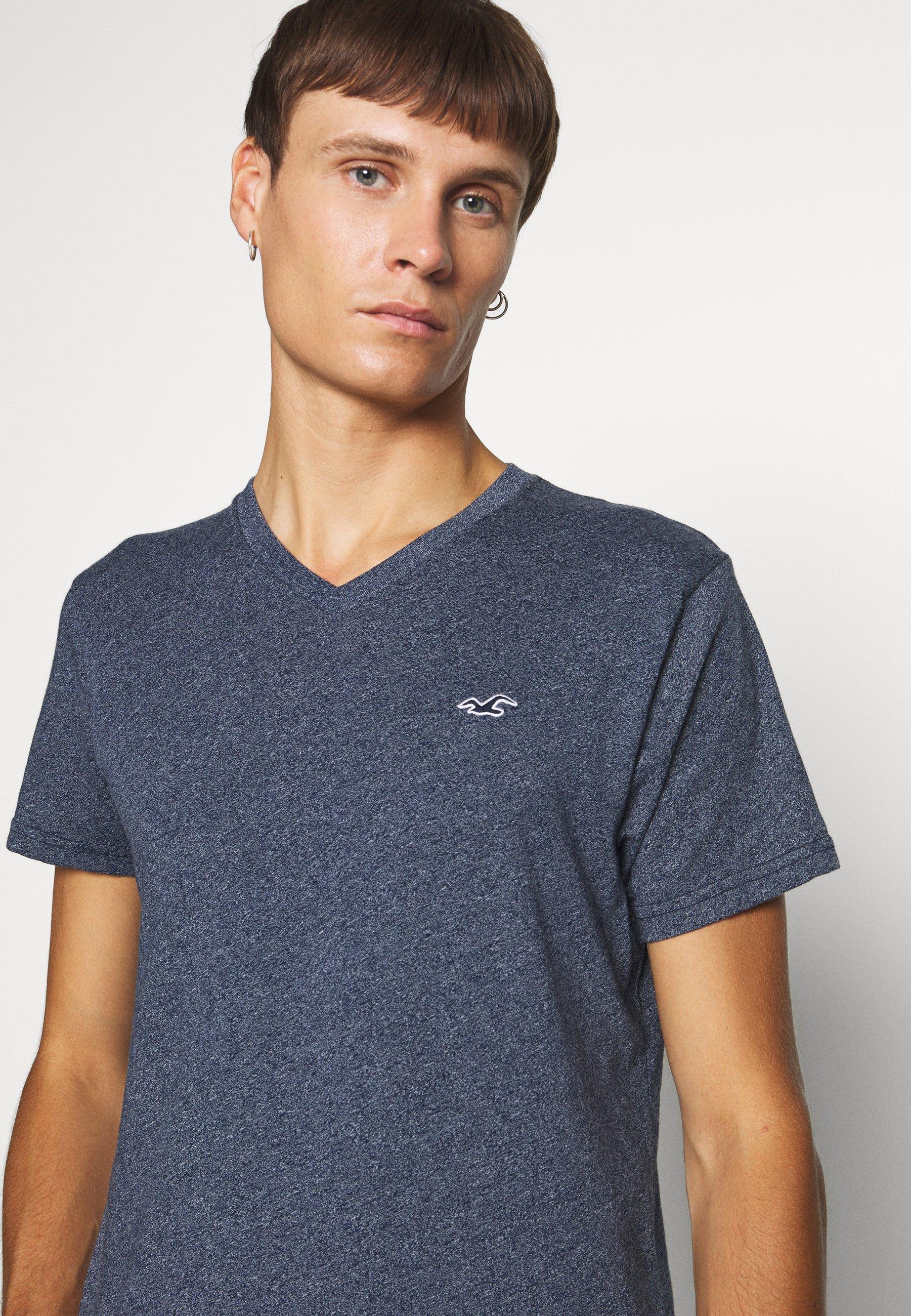 Hollister Co. SOLIDS  - Basic T-shirt - navy siro D7EAj