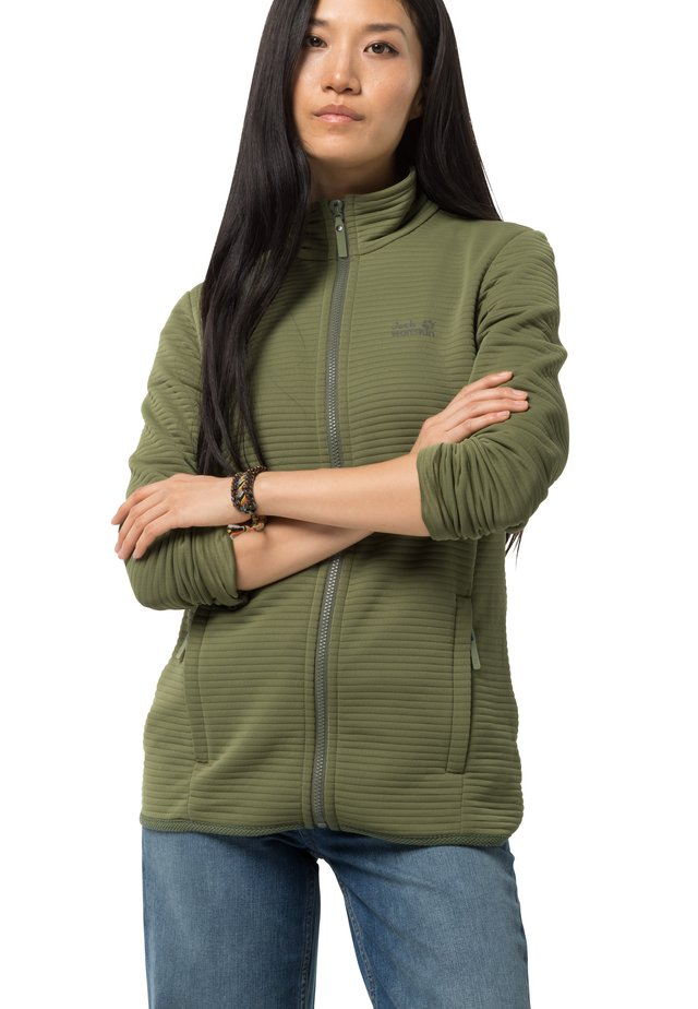 MODESTO - Fleece jacket - light moss